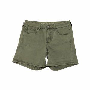 American Eagle Green Midi Shorts 0743